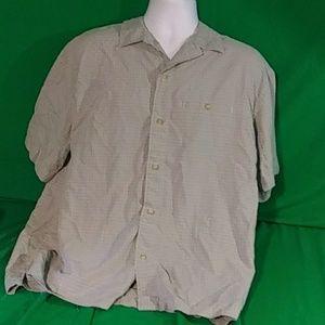 Woolrich shirt size xl green short sleeve